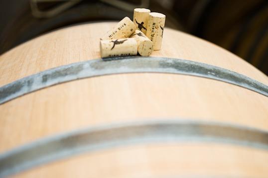 Wine Barrel and Corks
